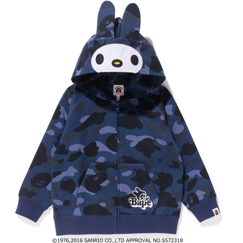 MY MELODY COLOR CAMO ZIP HOODIE KIDS