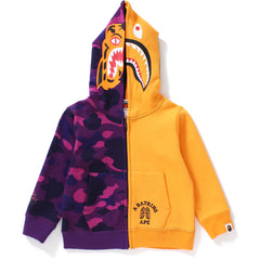 COLOR CAMO TIGER SHARK HALF FULL ZIP HOODIE KIDS