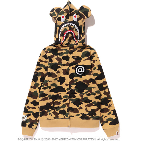 1ST CAMO SHARK BE@R FULL ZIP HOODIE LADIES