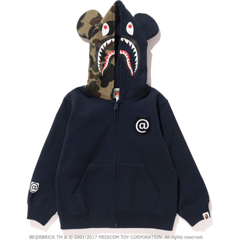 SHARK BE@R FULL ZIP HOODIE KIDS