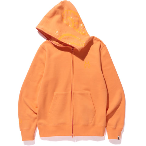 NEON COLOR SHARK FULL ZIP HOODIE MENS