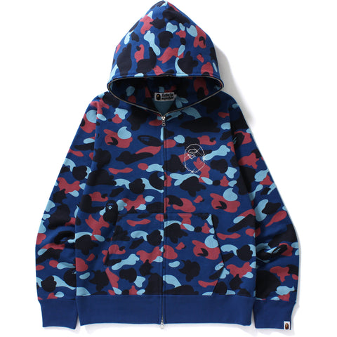 COLOR CAMO SWAROVSKI APE HEAD FULL ZIP H LADIES