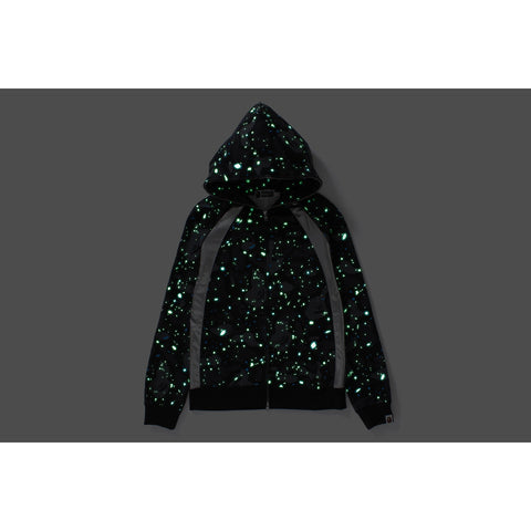 SPACE CAMO RAGLAN FULL ZIP HOODIE LADIES
