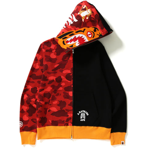 COLOR CAMO TIGER SHARK FULL ZIP HOODIE MENS