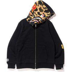 REVERSIBLE SHARK FULL ZIP HOODIE MENS