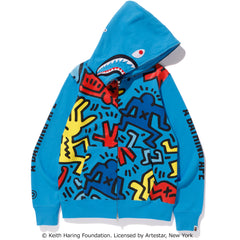 KEITH HARING SHARK FULL ZIP HOODIE #1 MENS