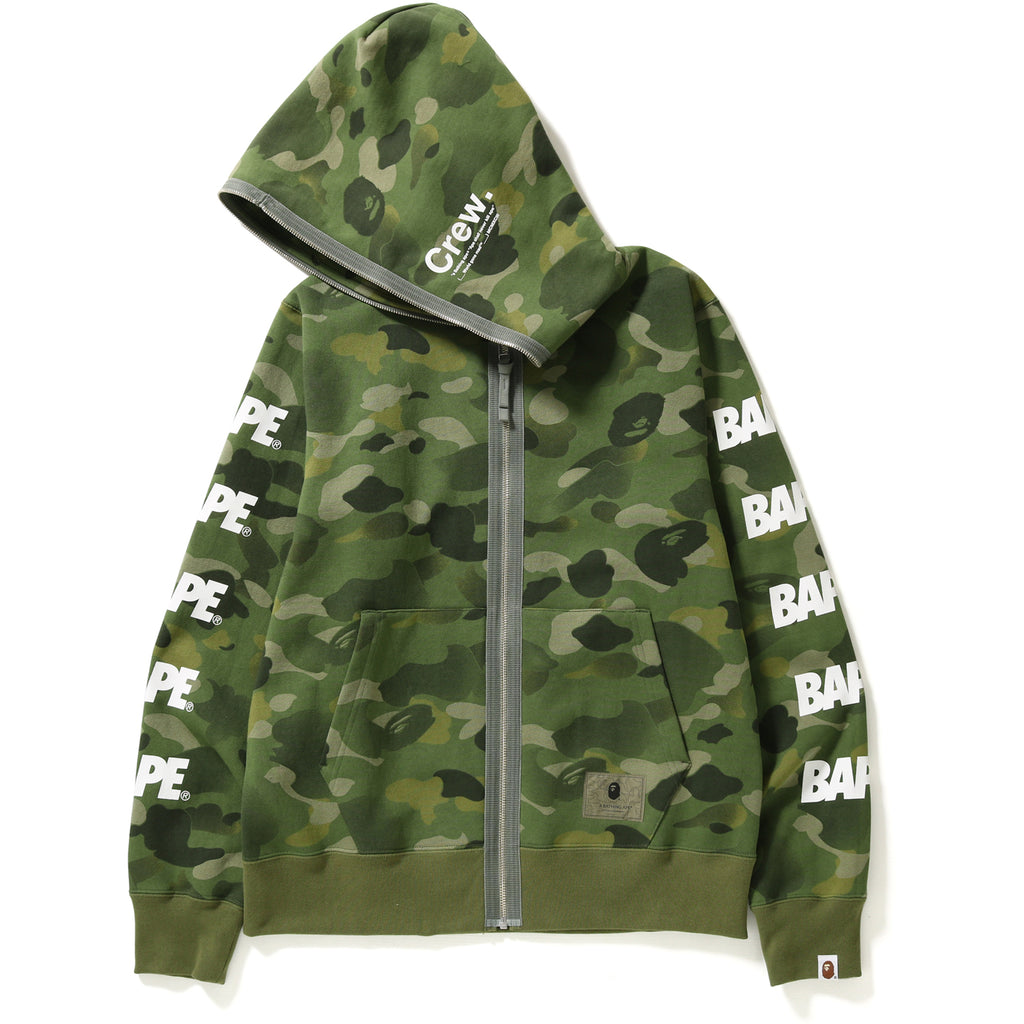 GRADATION CAMO BAPE FULL ZIP HOODIE MENS