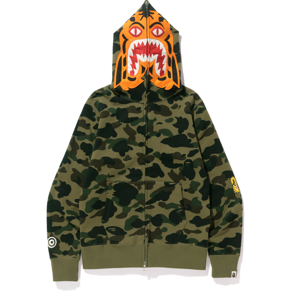 aa64992a8555 1ST CAMO TIGER FULL ZIP HOODIE MENS