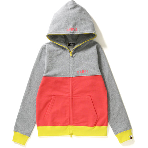 COLOR BLOCK FULL ZIP HOODIE LADIES