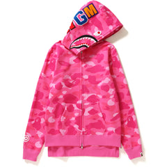 COLOR CAMO SHARK LONG ZIP HOODIE LADIES