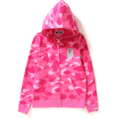 COLOR CAMO REFLECTOR FULL ZIP HOODIE LADIES