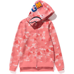GRADATION CAMO SHARK LONG ZIP HOODIE LADIES
