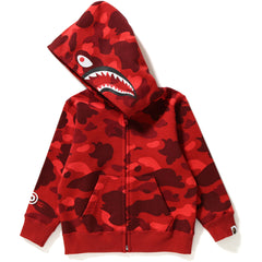 COLOR CAMO SHARK ZIP HOODIE KIDS