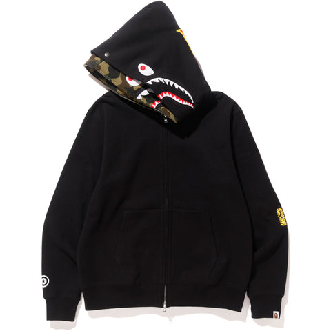 2ND SHARK WIDE FULL ZIP DOUBLE HOODIE MENS