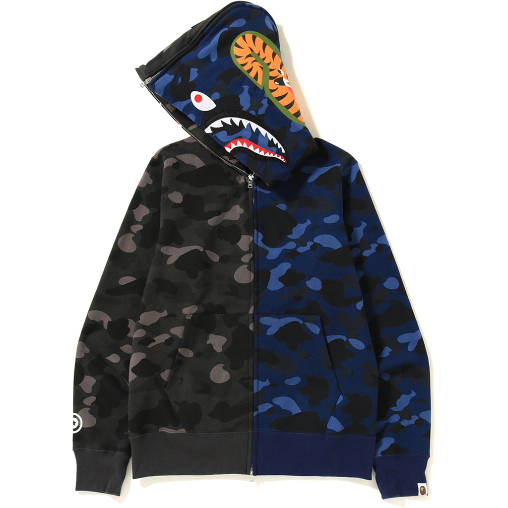 f37f876c30f8 COLOR CAMO SEPARATE SHARK FULL ZIP HOODI MENS