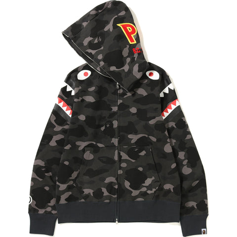 COLOR CAMO DOUBLE SHARK FULL ZIP HOODIE MENS