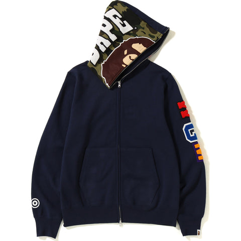 2ND APE SHARK FULL ZIP HOODIE MENS