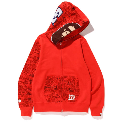 BAPE XXV CITIES CAMO 2ND APE FULL ZIP HOODIE MENS
