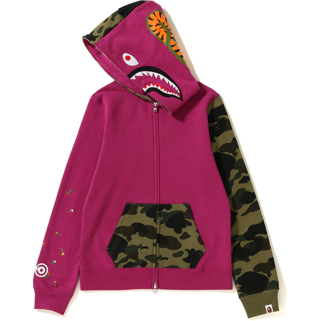 a0f3a68dce460 ... FLOWER 1ST CAMO SHARK FULL ZIP HOODIE LADIES ...