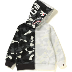 CITY CAMO HALF SHARK ZIP HOODIE KIDS