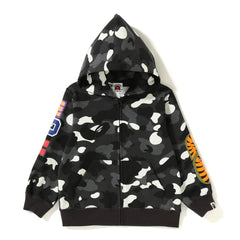 CITY CAMO SHARK ZIP HOODIE KIDS