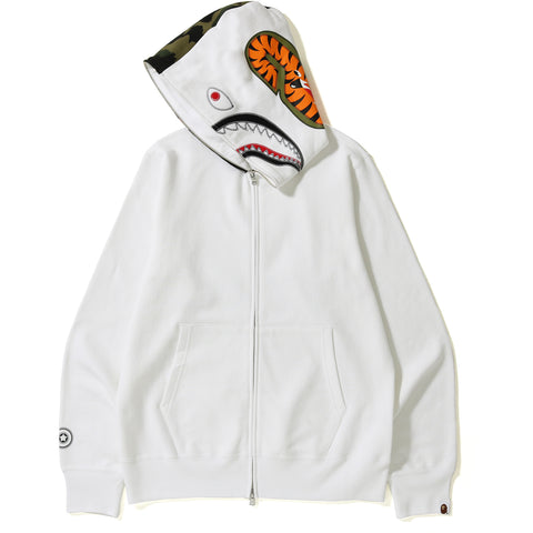 APPLIQUE SHARK FULL ZIP HOODIE MENS