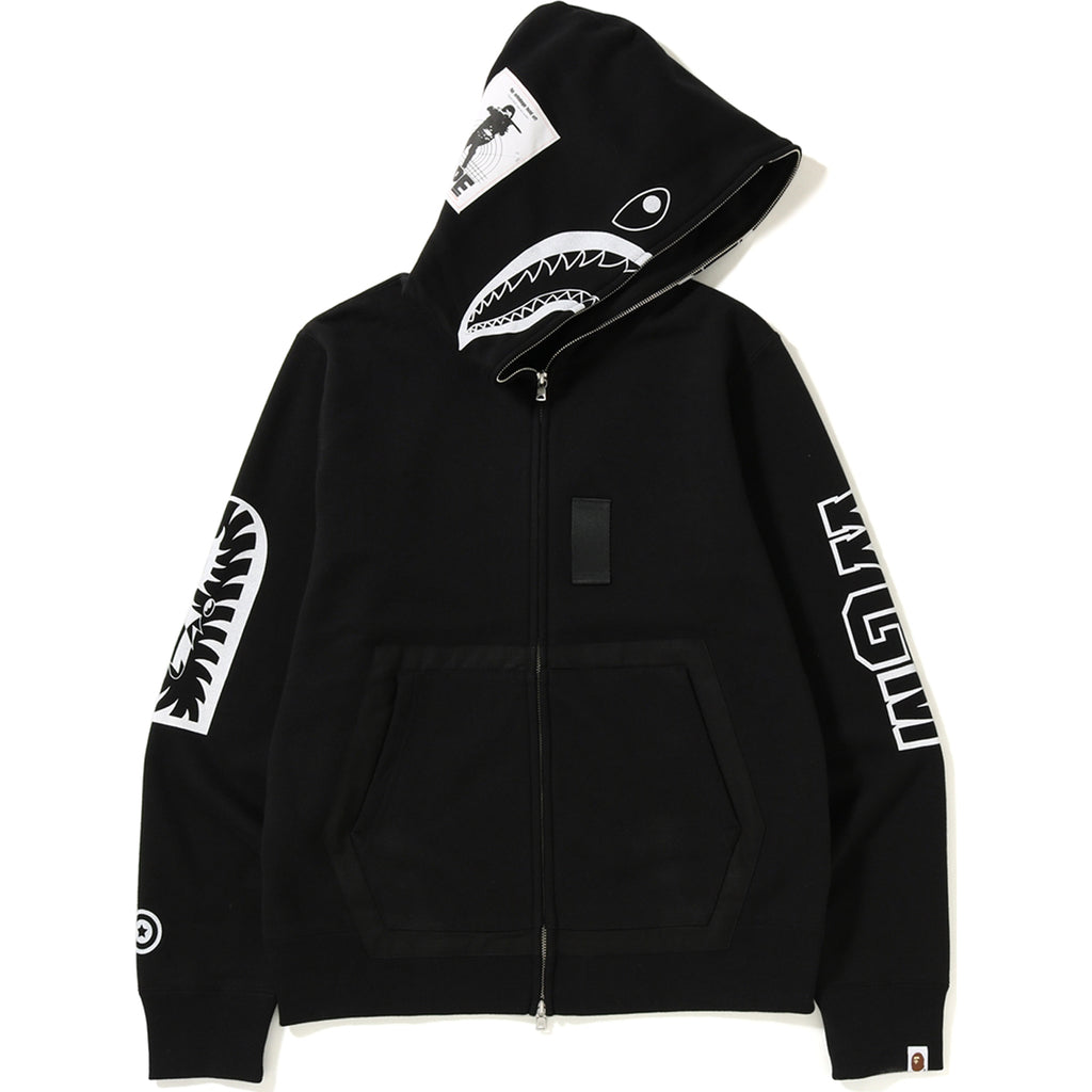 b2dc3f85526e MILITARY SHARK FULL ZIP HOODIE MENS