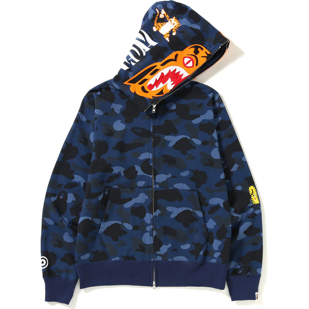 COLOR CAMO TIGER FULL ZIP HOODIE MENS