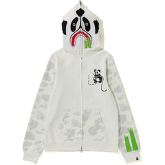 CITY CAMO PANDA FULL ZIP HOODIE LADIES