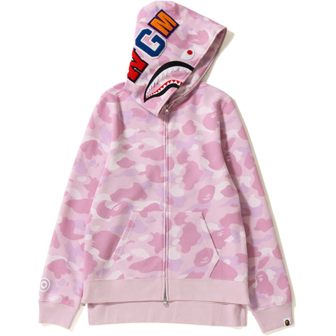 PASTEL COLOR CAMO SHARK LONG FULL ZIP HO LADIES