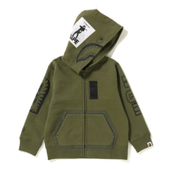MILITARY SHARK ZIP HOODIE KIDS