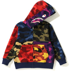 MIX CAMO CRAZY SHARK ZIP HOODIE KIDS