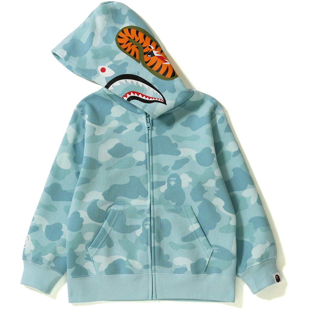 PASTEL COLOR CAMO SHARK ZIP HOODIE KIDS