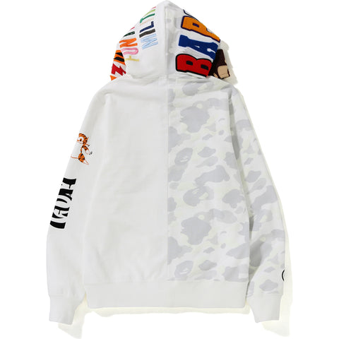 CITY CAMO 2ND APE TIGER FULL ZIP HOODIE MENS