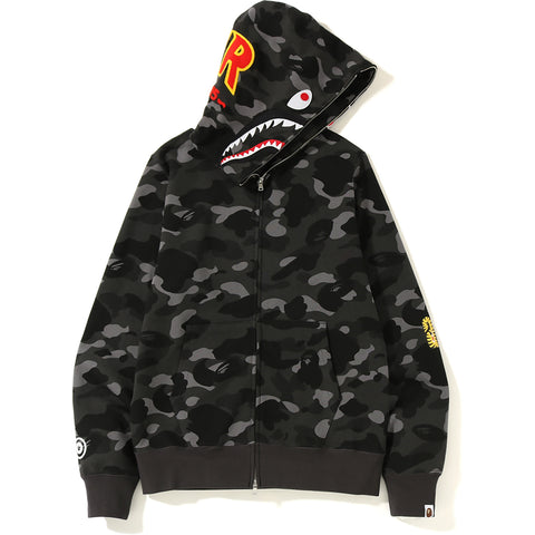 COLOR CAMO 2ND SHARK FULL ZIP HOODIE MENS