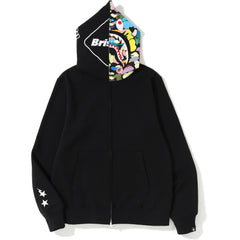 da723875ec4a NEW BAPE X FCRB SHARK FULL ZIP HOODIE MENS