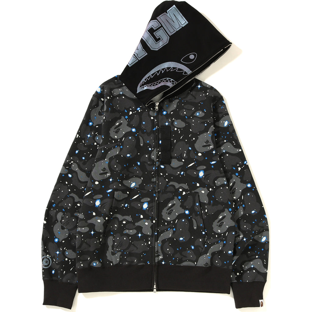 fcd1de53e23 SPACE CAMO SHARK FULL ZIP HOODIE MENS