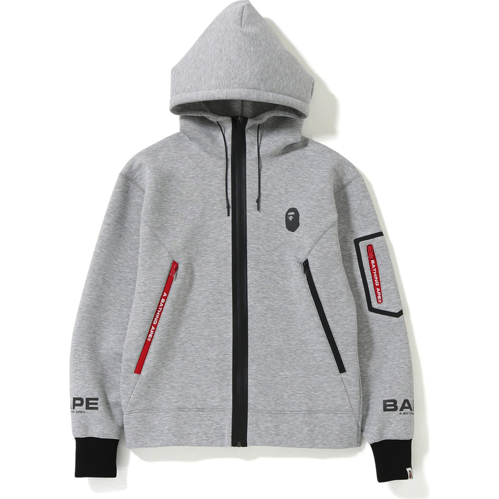 RELAXED DOUBLE KNIT FULL ZIP HOODIE MENS