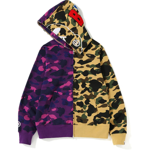 1ST X COLOR CAMO 2ND APE HALF FULL ZIP H MENS