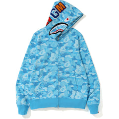 d36b5e4e4932 NEW FIRE CAMO SHARK FULL ZIP HOODIE MENS