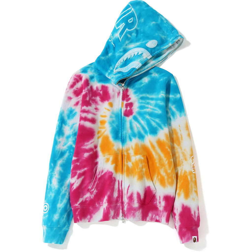 cf50252e TIE DYE SHARK FULL ZIP HOODIE LADIES | us.bape.com