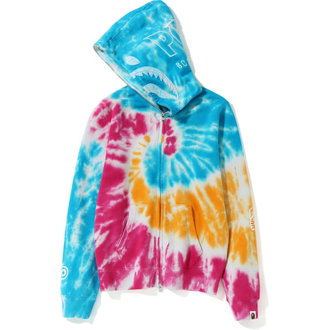 TIE DYE SHARK FULL ZIP HOODIE LADIES