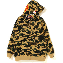 1ST CAMO OVERSIZED SHARK FULL ZIP HOODIE LADIES