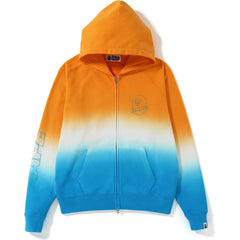 GRADATION WIDE ZIP HOODIE LADIES