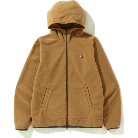 FLEECE ONE POINT ZIP HOODIE MENS