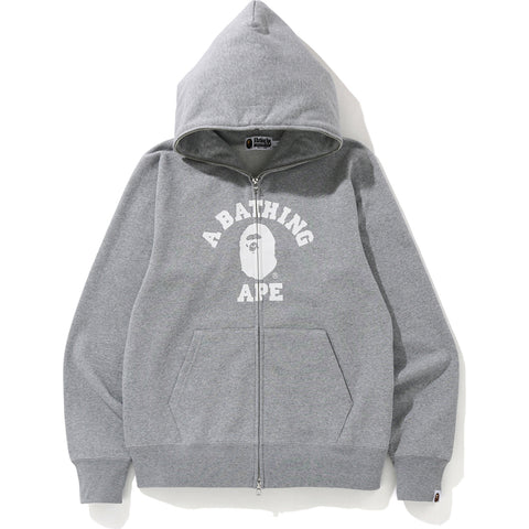 COLLEGE FULL ZIP HOODIE MENS