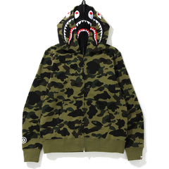 1ST CAMO SHARK FULL ZIP DOUBLE HOODIE MENS