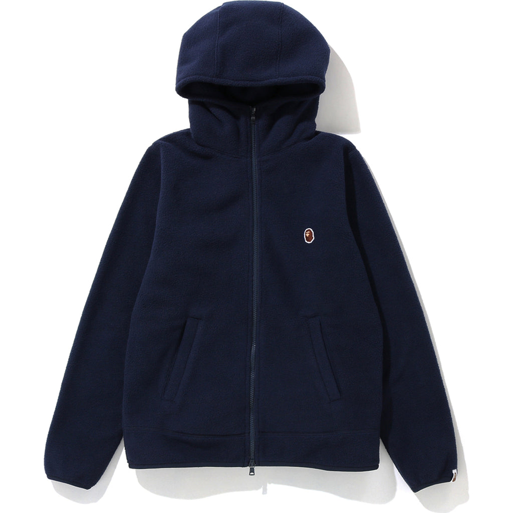 FLEECE ONE POINT ZIP HOODIE LADIES