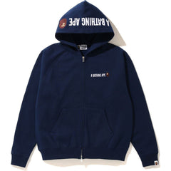 EMBROIDERY WIDE ZIP HOODIE LADIES