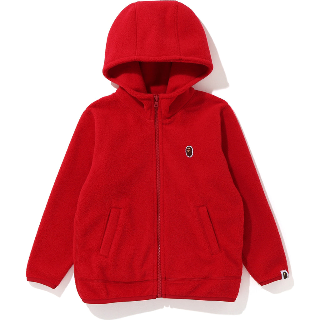 FLEECE ONE POINT ZIP HOODIE KIDS